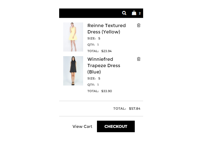 online shopping shopping bag