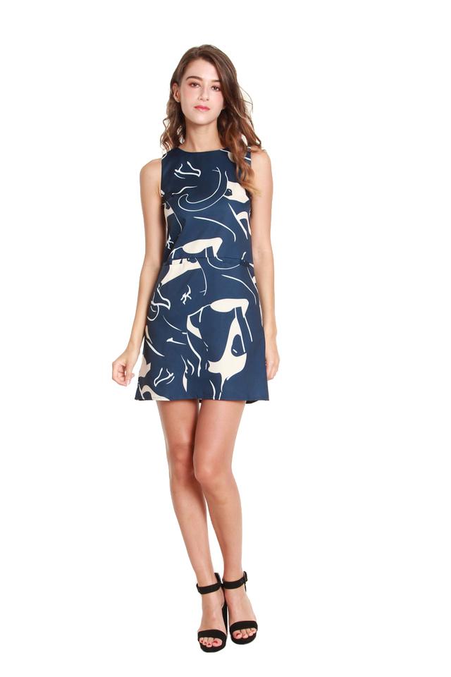 Lauren Printed Mod Mini Dress