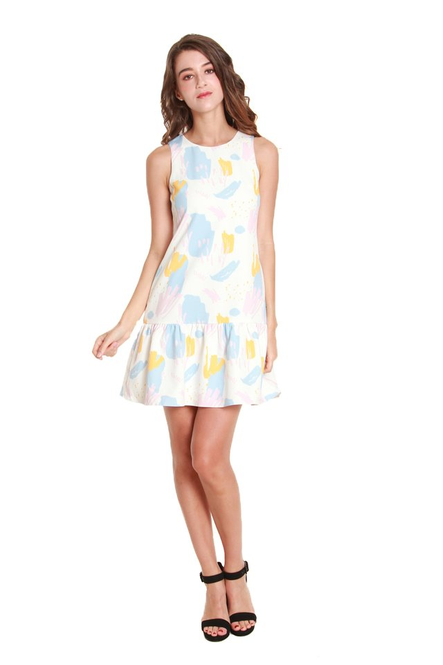 Aria Drop Hem Mini Dress