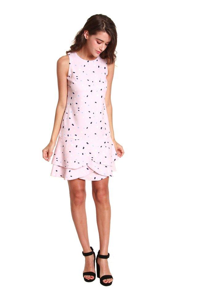 Kayla Confetti Printed Mini Dress