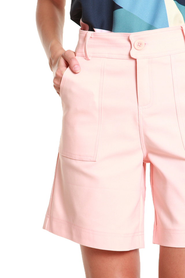 Amelia Everyday High-Waisted Shorts in Pink