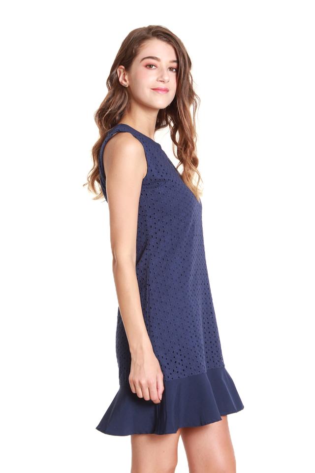 Everly Eyelet Embroidery Mini Dress
