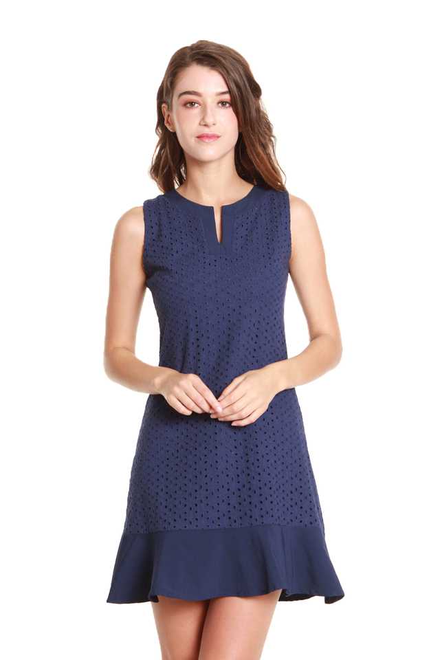 Everly Eyelet Embroidery Mini Dress