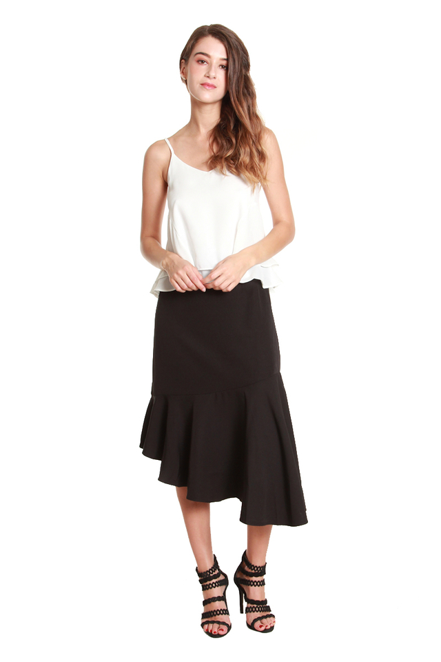 Mya Asymmetrical Fishtail Skirt