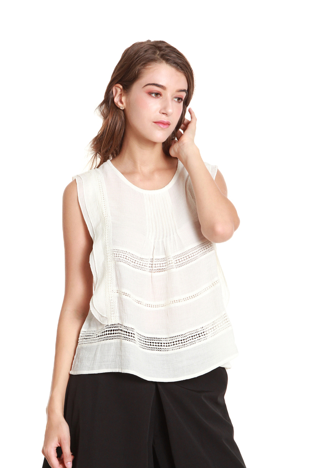 Finley Pintuck Sleeveless Blouse