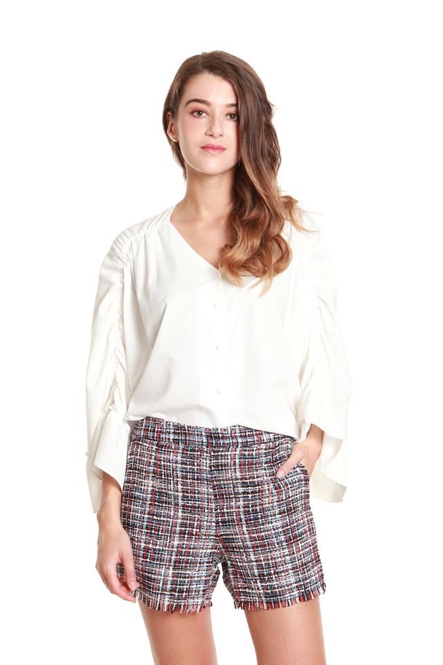 Ember Fringe Tweed Shorts
