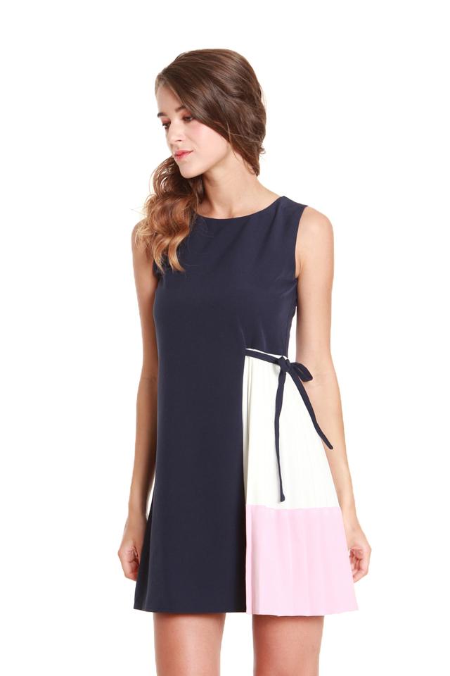 Chloe Colorblock Insert Mini Dress