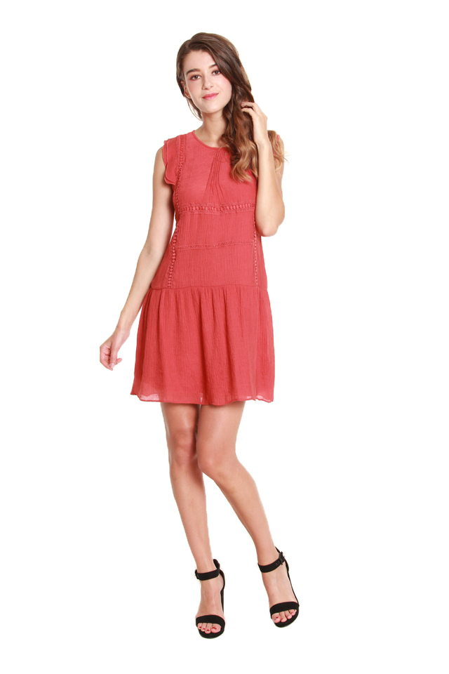 Andrea Loose Embroidered Mini Dress