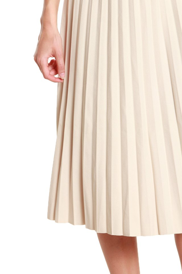 Kasey Pleated Midi Skirt