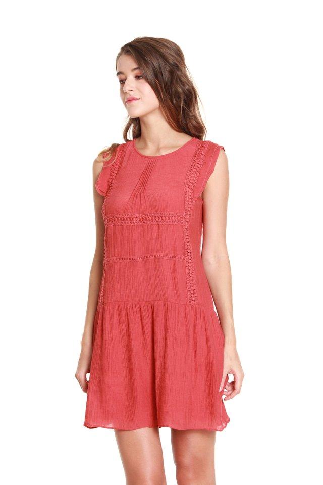 Andrea Loose Embroidered Mini Dress