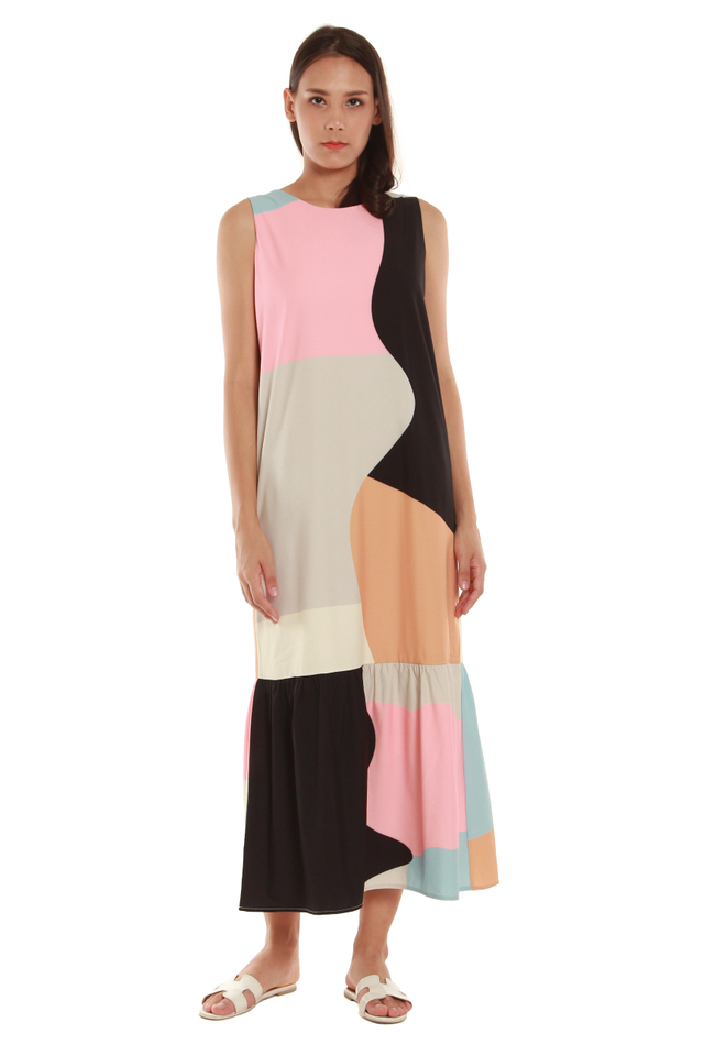 Jayla Abstract Maxi Dress