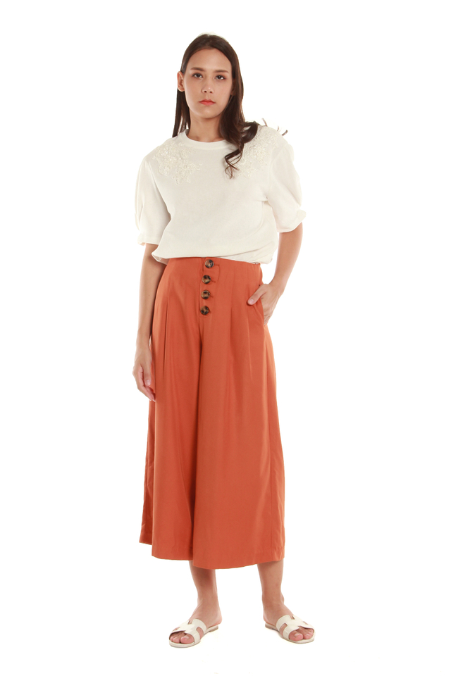 Marie Cropped Palazzo Pants in Orange
