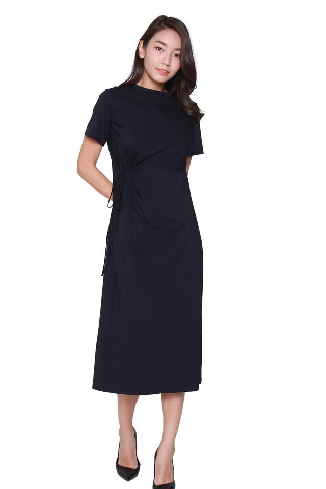 Fianna Side-Tie Midi Dress