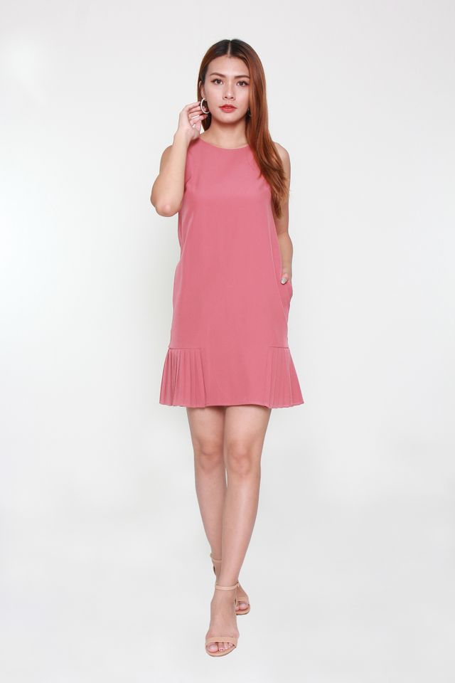 Ranielle Sleeveless Mini Dress in Tea Rose