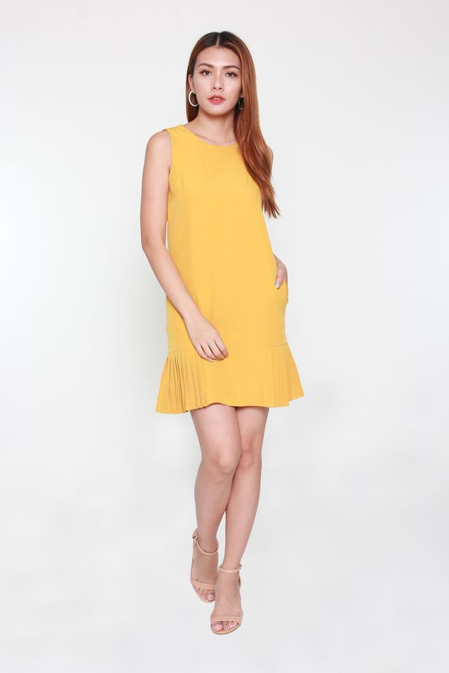 Ranielle Sleeveless Mini Dress in Mustard