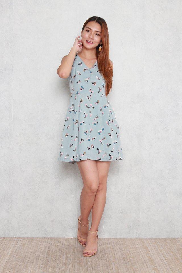 Marley Sleeveless Buttoned Babydoll Dress