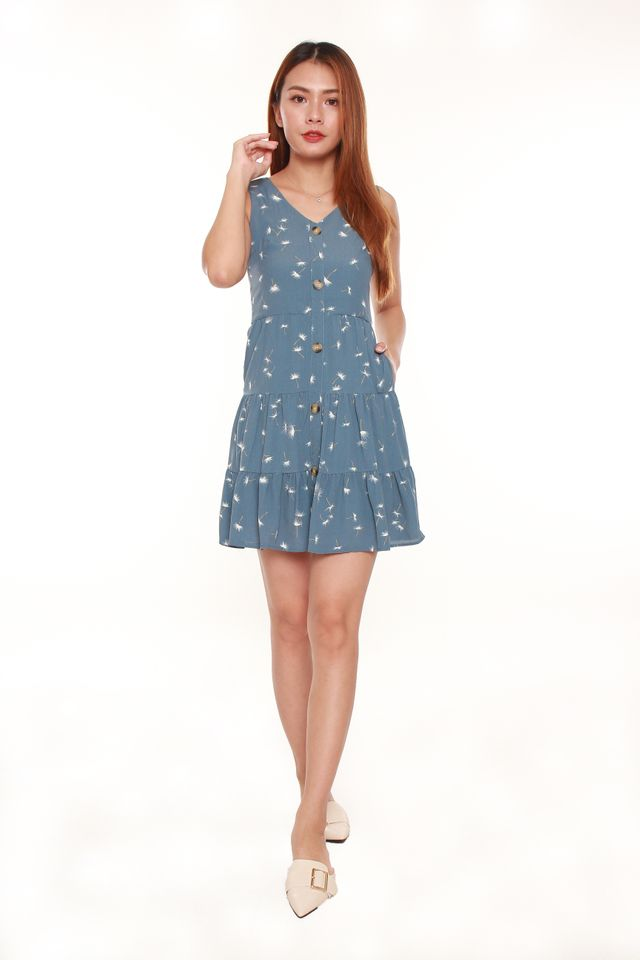 Danni Dandelion Seed Mini Dress