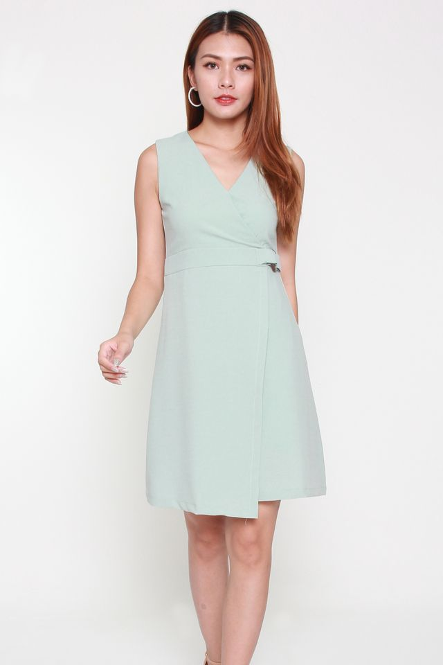 Olivia Buckle Work Dress in Mint