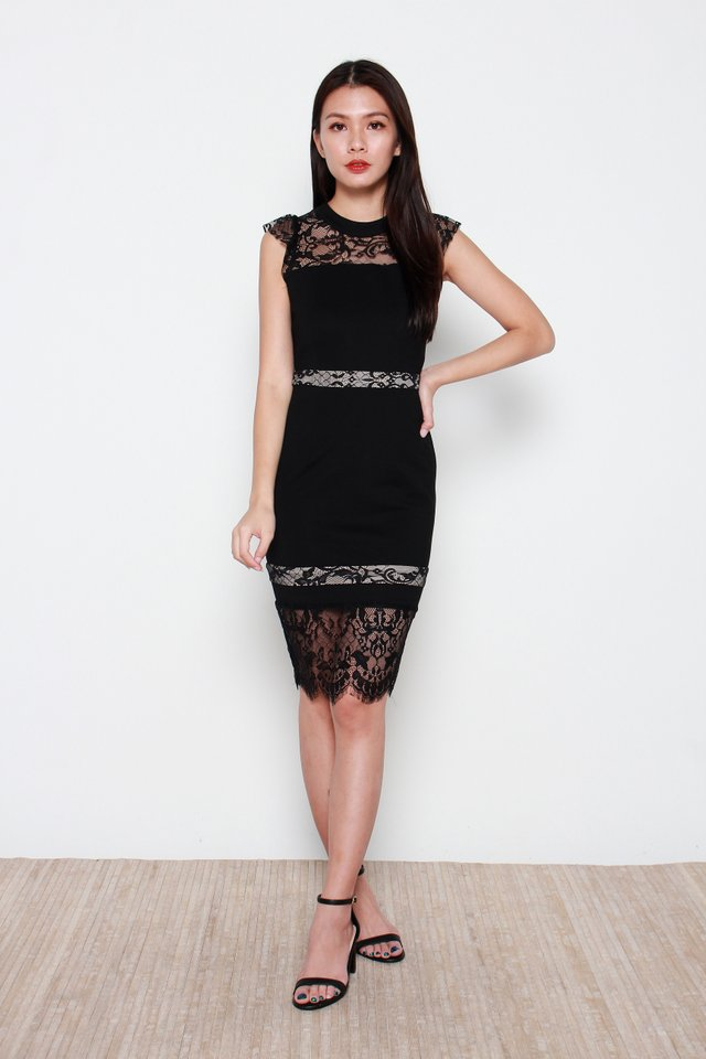 Varissa Lace Dress in Black