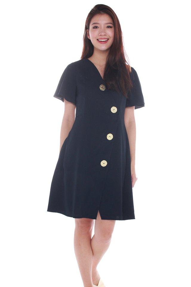 Emmarie Buttons Wrap Around Dress