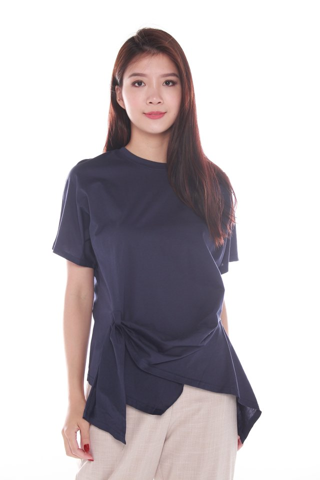 Selah Draped Stretch-crepe Peplum Top