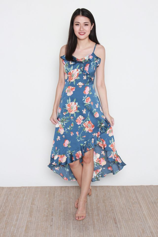 Miria Floral Maxi Dress in Blue