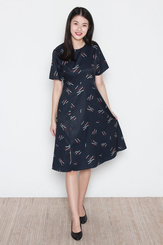 Kali Round Neck Sleeve Dress