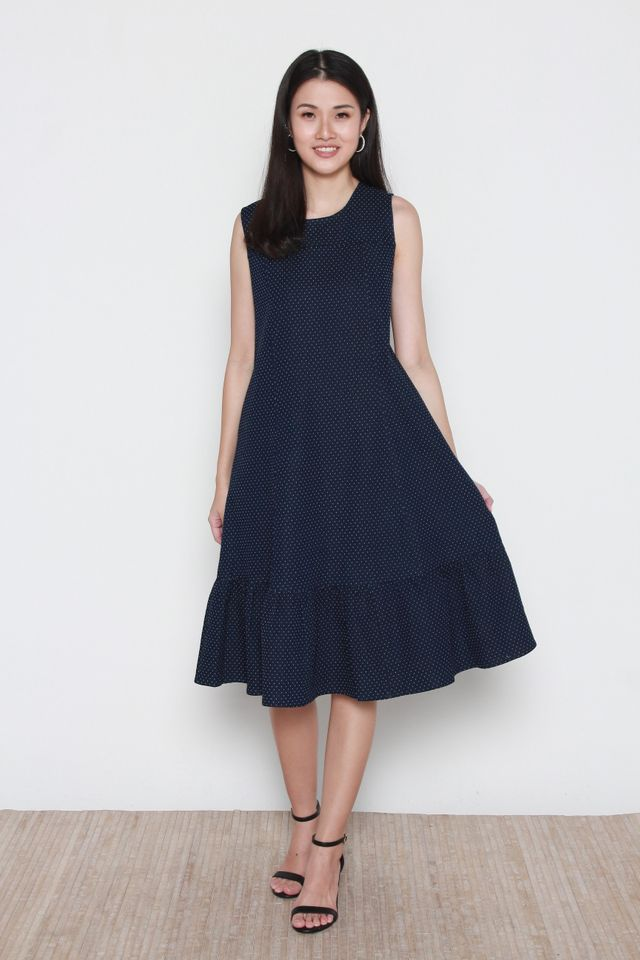 Adette Sleeveless Denim Dress