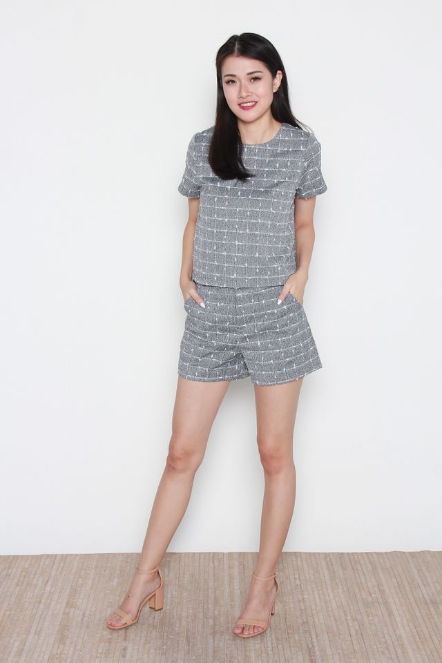 Charley Grey Top and Shorts Set