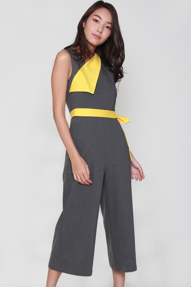 Neva Asymmetrical Collar Jumpsuit