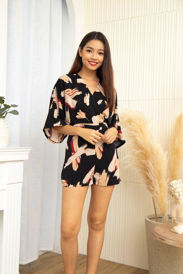 Kimi Kimono Romper in Black