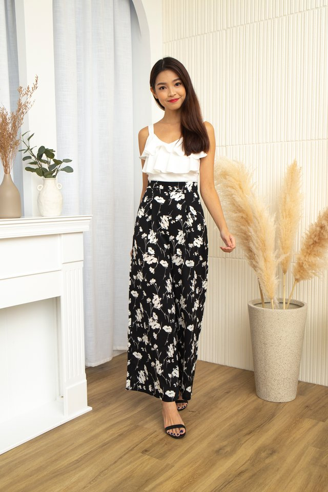 Fleure Ruffles Jumpsuit in Black